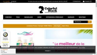 Site internet de Colorful Black