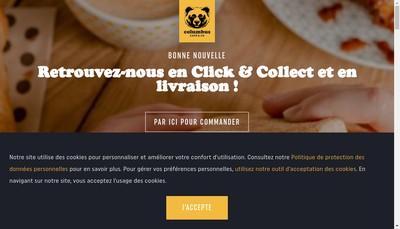 Site internet de Colombus Cafe