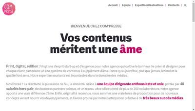 Site internet de SARL Com Presse