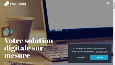 Site internet de Com To Code