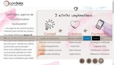 Site internet de Com'3Elles