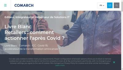 Site internet de Comarch R&D
