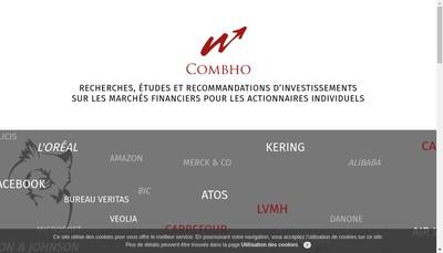 Site internet de Combho