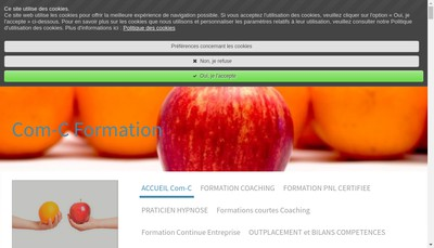Site internet de Com-C Formation