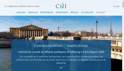 Site internet de Communication & Institutions
