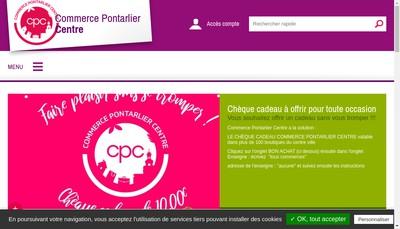 Site internet de Commerce Pontarlier Centre