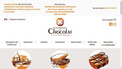 Site internet de Compagnie du Chocolat
