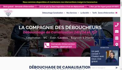 Site internet de La Compagnie des Deboucheurs