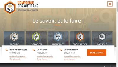 Site internet de Compagnie des Artisans - Poeles et Compagnie