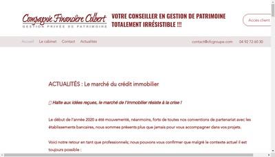 Site internet de Compagnie Financiere Colbert