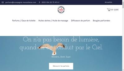 Site internet de La Compagnie Marseillaise