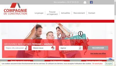 Site internet de Compagnie de Construction