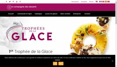 Site internet de La Compagnie des Desserts