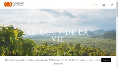 Site internet de Compagnie Fruitiere Paris