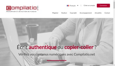Site internet de Compilatio