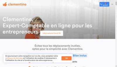 Site internet de CLEMENTINE, Expert-Comptable en ligne