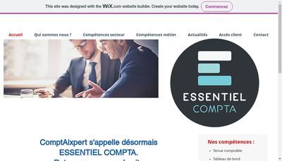 Site internet de Essentiel Compta Pays d'Aix