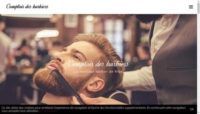 Site internet de Comptoirs des Barbiers