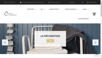 Site internet de Comptoir des Teintures