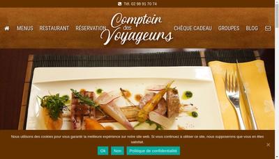 Site internet de Comptoir des Voyageurs