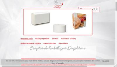Site internet de Comptoir de l'Emballage