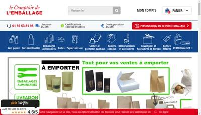 Site internet de Comptoir de l'Emballage Pack And Design