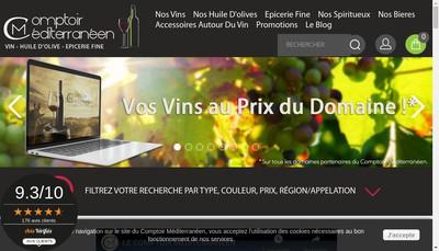 Site internet de Le Comptoir Mediterraneen