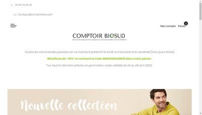 Site internet de Comptoir Biosud