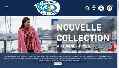 Site internet de Comptoir de la Mer