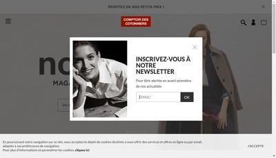 Site internet de Comptoir des Cotonniers
