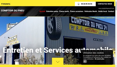 Site internet de Comptoir du Pneu Occasion et Neuf