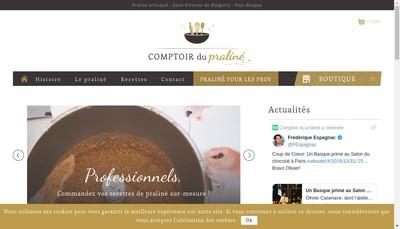 Site internet de Comptoir du Praline