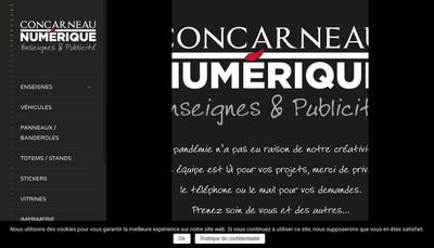 Site internet de Concarneau Numerique