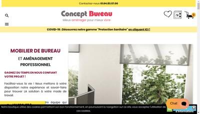 Site internet de Concept Bureau