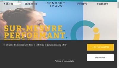 Site internet de Concept Image Rennes