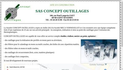 Site internet de Concept Outillages