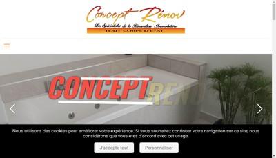 Site internet de Concept Renov