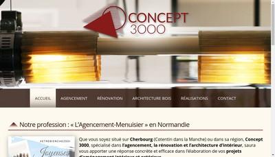 Site internet de Concept 3000