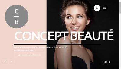 Site internet de Concept Beaute