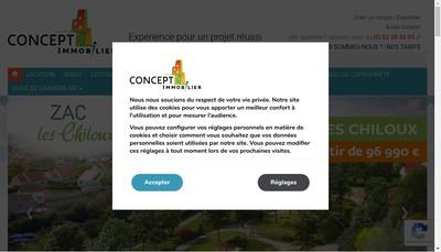 Site internet de Concept Immobilier