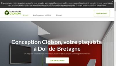 Site internet de Conception Cloison