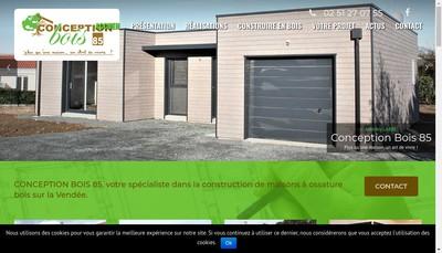 Site internet de Conception Bois 85