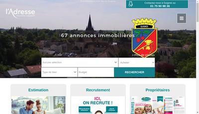 Site internet de L'Agence de la Brie