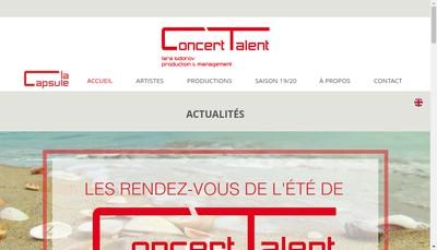 Site internet de Concert Talent