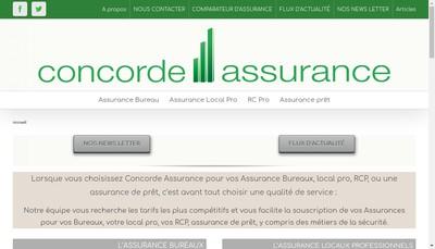 Site internet de Concorde Assurance