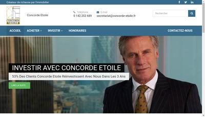 Site internet de Concorde Etoile