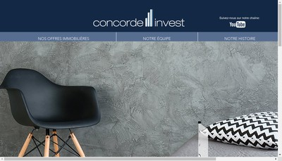 Site internet de Concorde Invest