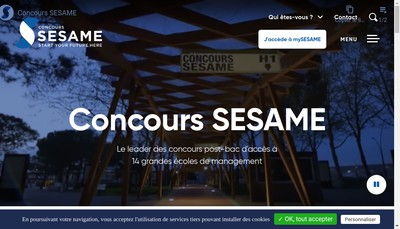 Site internet de SESAME Banque d'Epreuves