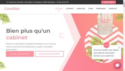 Site internet de Condillac Expertise