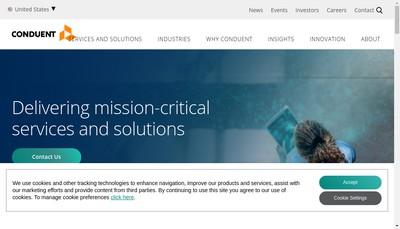Site internet de Conduent Business Process Solutions